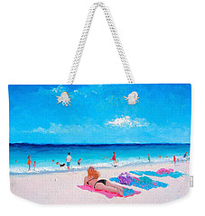 Lazy Day Weekender Tote Bag by Jan Matson