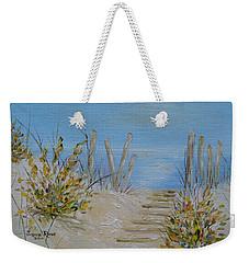 Weekender Tote Bag featuring the painting Lbi Peace by Judith Rhue