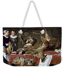 Le Cellier Oil On Canvas Weekender Tote Bag by Frans Snyders or Snijders
