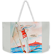 Weekender Tote Bag featuring the painting Le Miroir Du Monde by Beth Saffer
