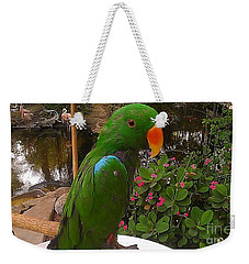 Weekender Tote Bag featuring the photograph Le Parrot by Chris Tarpening