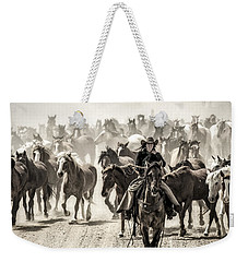 Leader Of The Pack Weekender Tote Bag by Joan Davis