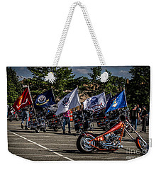 Weekender Tote Bag featuring the photograph Leading The Way by Eleanor Abramson