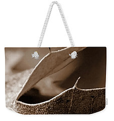 Weekender Tote Bag featuring the photograph Leaf Collage 2 by Lauren Radke