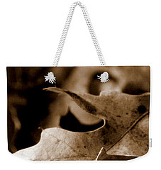 Weekender Tote Bag featuring the photograph Leaf Collage 4 by Lauren Radke