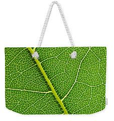 Leaf Detail Weekender Tote Bag by Carsten Reisinger