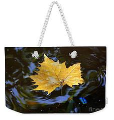 Leaf In Pond Weekender Tote Bag