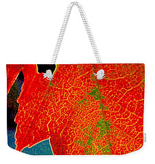 Weekender Tote Bag featuring the photograph Leaf Pop by Kathy Bassett