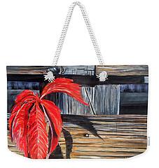 Leaf Shadow 2 Weekender Tote Bag by Marilyn  McNish