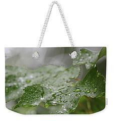 Leafy Raindrops Weekender Tote Bag