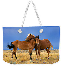 Lean On Me Wild Mustang Weekender Tote Bag