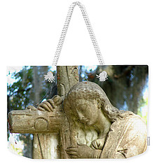 Leaning On The Cross Weekender Tote Bag