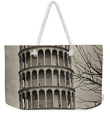 Leaning Tower Weekender Tote Bag by Miguel Winterpacht