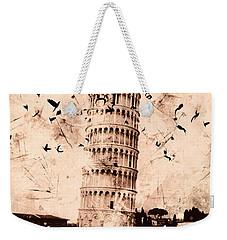 Leaning Tower Of Pisa Sepia Weekender Tote Bag