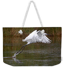 Leaping Egret Weekender Tote Bag by Leticia Latocki