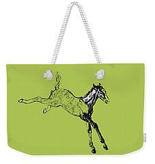 Leaping Foal Greens Weekender Tote Bag