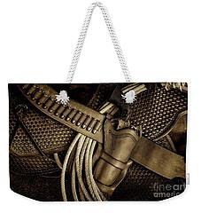 Leather And Lead Weekender Tote Bag