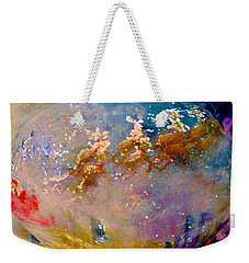 Weekender Tote Bag featuring the painting Leave Some Cookies For Santa by Lisa Kaiser