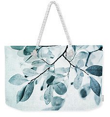 Leaves In Dusty Blue Weekender Tote Bag