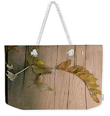 Leaves On A Wooden Step Weekender Tote Bag