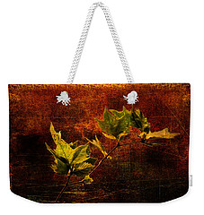 Leaves On Texture Weekender Tote Bag