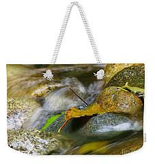 Leaves On The Rocks Weekender Tote Bag