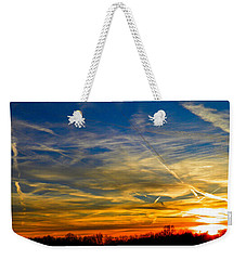 Leavin On A Jetplane Sunset Weekender Tote Bag