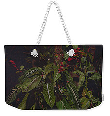 Weekender Tote Bag featuring the painting Leaving Monroe by Thu Nguyen