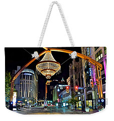 Leaving Playhouse Square Weekender Tote Bag by Frozen in Time Fine Art Photography