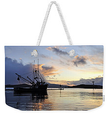 Weekender Tote Bag featuring the photograph Leaving Safe Harbor by Cathy Mahnke