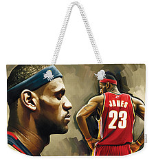 Lebron James Artwork 1 Weekender Tote Bag by Sheraz A