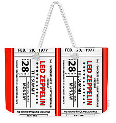Weekender Tote Bag featuring the digital art Led Zeppelin by Marvin Blaine