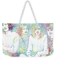 Led Zeppelin Tie Dye Weekender Tote Bag by Dan Sproul