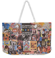 Led Zeppelin Years Collage Weekender Tote Bag by Donna Wilson