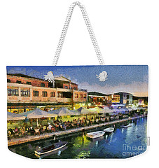 Lefkada Town During Dusk Time Weekender Tote Bag