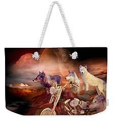 Legend Of Wolf Mountain Weekender Tote Bag