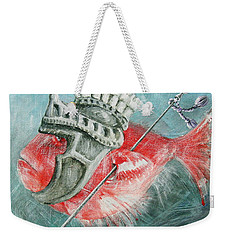Weekender Tote Bag featuring the painting Legionnaire Fish by Marina Gnetetsky
