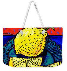 Lemon And Two Slices Weekender Tote Bag