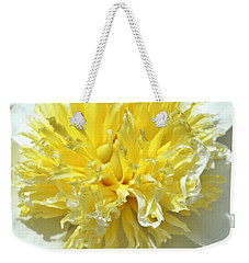 Weekender Tote Bag featuring the photograph Lemon Drop by Lilliana Mendez