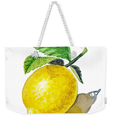 Artz Vitamins The Lemon Weekender Tote Bag by Irina Sztukowski