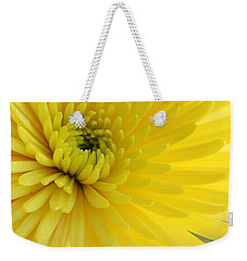 Weekender Tote Bag featuring the photograph Lemon Mum by The Art of Alice Terrill