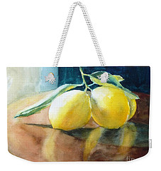 Lemon Reflections Weekender Tote Bag
