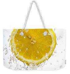 Lemon Splash Weekender Tote Bag