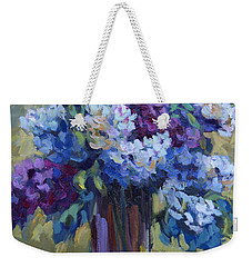 Lemons And Lilacs Weekender Tote Bag by Diane McClary