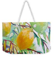 Lemons And Lime Weekender Tote Bag