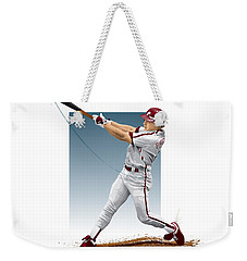 Weekender Tote Bag featuring the digital art Lenny Dykstra by Scott Weigner