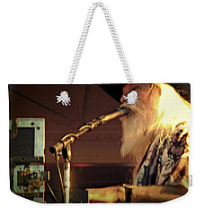 Weekender Tote Bag featuring the photograph Leon Russel Live by Mike Martin