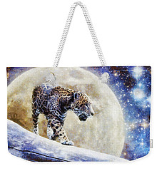 Leopard Moon Weekender Tote Bag by Greg Collins