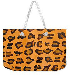 Leopard Print Hand Painted Leopard Print  Weekender Tote Bag by RjFxx at beautifullart com