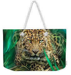 Leopard - Spirit Of Empowerment Weekender Tote Bag by Carol Cavalaris